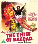 The Thief of Bagdad - British Blu-Ray movie cover (xs thumbnail)