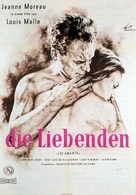 Les amants - German Movie Poster (xs thumbnail)