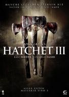 Hatchet III - German DVD cover (xs thumbnail)