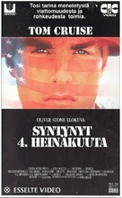 Born on the Fourth of July - Finnish VHS movie cover (xs thumbnail)