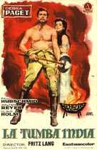 Indische Grabmal, Das - Spanish Movie Poster (xs thumbnail)