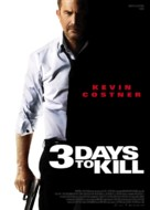Three Days to Kill - French Movie Poster (xs thumbnail)