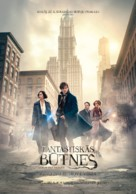 Fantastic Beasts and Where to Find Them - Latvian Movie Poster (xs thumbnail)