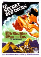 Secret of the Incas - French Movie Poster (xs thumbnail)