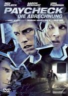 Paycheck - German DVD cover (xs thumbnail)