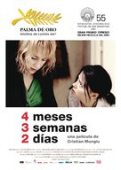 4 luni, 3 saptamini si 2 zile - Spanish Movie Poster (xs thumbnail)