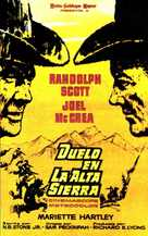 Ride the High Country - Spanish Movie Poster (xs thumbnail)