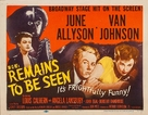 Remains to Be Seen - Movie Poster (xs thumbnail)