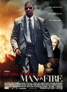 Man On Fire - Danish Movie Poster (xs thumbnail)