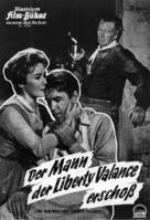 The Man Who Shot Liberty Valance - German poster (xs thumbnail)