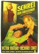 Cry of the City - German Movie Poster (xs thumbnail)