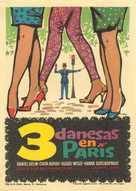 Tre piger i Paris - Spanish Movie Poster (xs thumbnail)