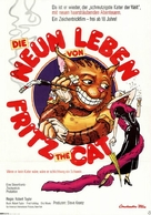 The Nine Lives of Fritz the Cat - German Movie Poster (xs thumbnail)