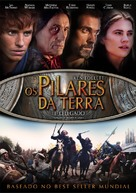 """The Pillars of the Earth"" - Brazilian DVD movie cover (xs thumbnail)"
