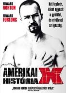 American History X - Hungarian DVD cover (xs thumbnail)