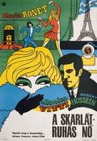La femme écarlate - Hungarian Movie Poster (xs thumbnail)