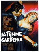The Blue Gardenia - French Movie Poster (xs thumbnail)