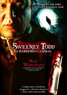 Sweeney Todd - Brazilian DVD cover (xs thumbnail)