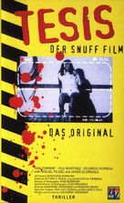 Tesis - German VHS cover (xs thumbnail)