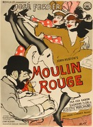 Moulin Rouge - Danish Movie Poster (xs thumbnail)