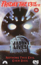 Jason Lives: Friday the 13th Part VI - British VHS cover (xs thumbnail)