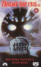 Jason Lives: Friday the 13th Part VI - British VHS movie cover (xs thumbnail)
