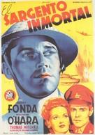 Immortal Sergeant - Spanish Movie Poster (xs thumbnail)