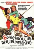 Avventure e gli amori di Scaramouche, Le - German Movie Poster (xs thumbnail)