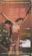 Color Me Blood Red - VHS cover (xs thumbnail)