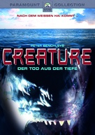 Creature - German DVD cover (xs thumbnail)