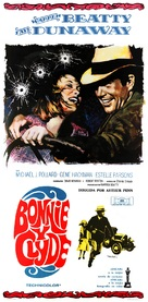 Bonnie and Clyde - Spanish Movie Poster (xs thumbnail)