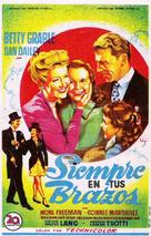 Mother Wore Tights - Spanish Movie Poster (xs thumbnail)