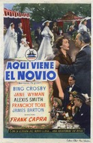 Here Comes the Groom - Spanish Movie Poster (xs thumbnail)