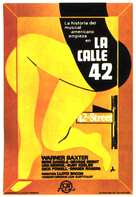 42nd Street - Spanish Movie Poster (xs thumbnail)
