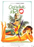 Blame It on Rio - French Movie Poster (xs thumbnail)