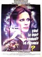 Antwort kennt nur der Wind, Die - French Movie Poster (xs thumbnail)