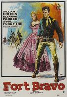 Escape from Fort Bravo - Spanish Movie Poster (xs thumbnail)