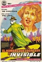 El hombre que logró ser invisible - Spanish Movie Poster (xs thumbnail)