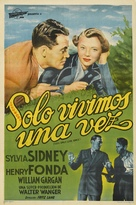 You Only Live Once - Argentinian Movie Poster (xs thumbnail)