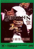 Ghoulies III: Ghoulies Go to College - Australian DVD cover (xs thumbnail)
