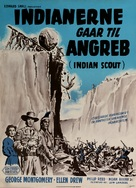 Davy Crockett, Indian Scout - Danish Movie Poster (xs thumbnail)