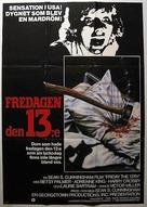 Friday the 13th - Swedish Movie Poster (xs thumbnail)