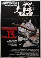 Friday the 13th - Swedish Movie Poster (xs thumbnail)