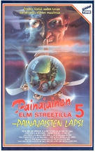 A Nightmare on Elm Street: The Dream Child - Finnish VHS movie cover (xs thumbnail)