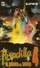 A Nightmare on Elm Street 4: The Dream Master - Argentinian VHS movie cover (xs thumbnail)