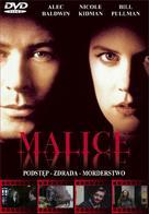 Malice - Polish DVD movie cover (xs thumbnail)
