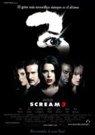 Scream 3 - Spanish Movie Poster (xs thumbnail)