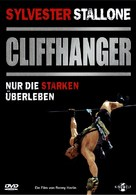 Cliffhanger - German DVD cover (xs thumbnail)