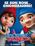Gnomeo and Juliet - Italian Movie Poster (xs thumbnail)