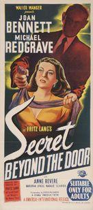 Secret Beyond the Door... - Australian Movie Poster (xs thumbnail)